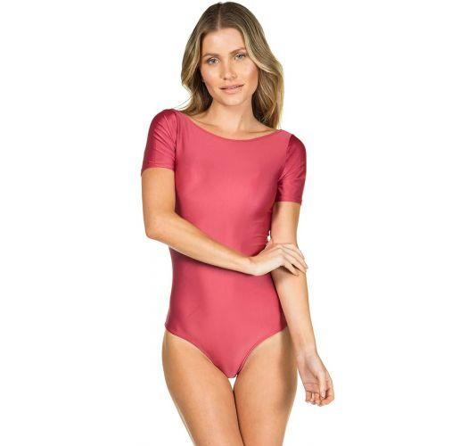 Body rosa con maniche Corte - BODY LISO VERMELHO