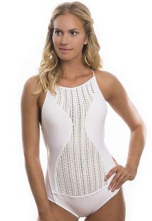 Original white openwork one-piece swimsuit - NEW DAZZLING WHITE