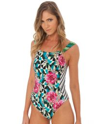 Luxurious swimsuit mix of colorful prints - RIBBON OP ROMANTIC
