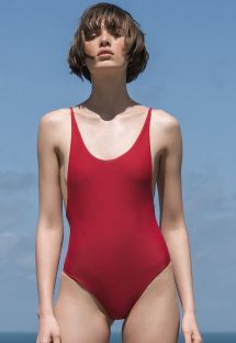 Roter seitlich ausgeschnittener Badeanzug - ALCINHA PITANGA