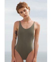1-piece classic swimsuit in khaki - MAIO ALCINHA MILITAR