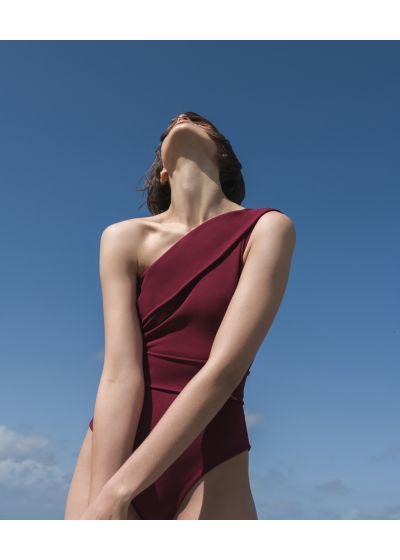 Burgundroter asymmetrischer Badeanzug - MAIO MARIA GRENAT
