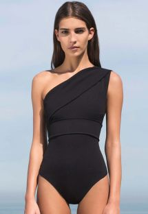 Black asymmetric 1-piece swimsuit - MAIO MARIA PRETO