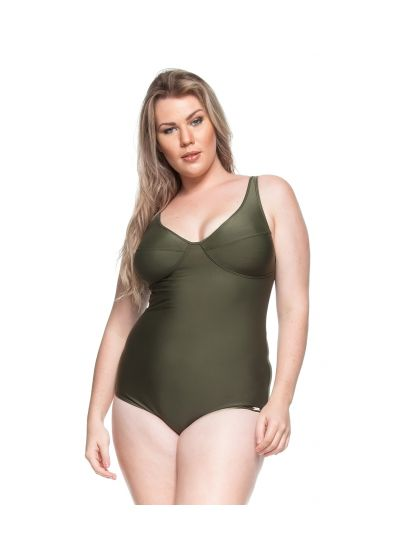 Underwired one-piece swimsuit in khaki - ALOHA