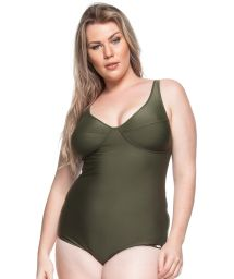 Underwired one-piece swimsuit in khaki - ALOHA