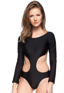 Black long sleeve monokini - BELEZA NATURAL
