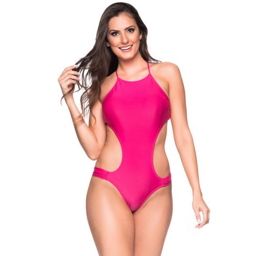 Pink monokini with big cutouts - ENGANA TROPICALIA