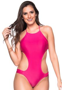 Pink monokini with big cutouts - ENGANA TROPICALIA