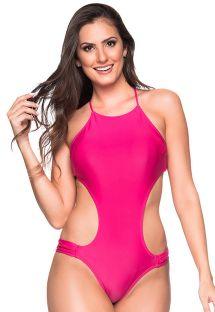 Rosafarvet brasiliansk trikini med udskæringer - ENGANA TROPICALIA