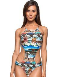 Cuba print Brazilian trikini- FENIX