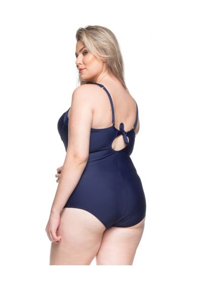 Hard padded one-piece swimsuit in navy blue - FONTES CRISTALINAS