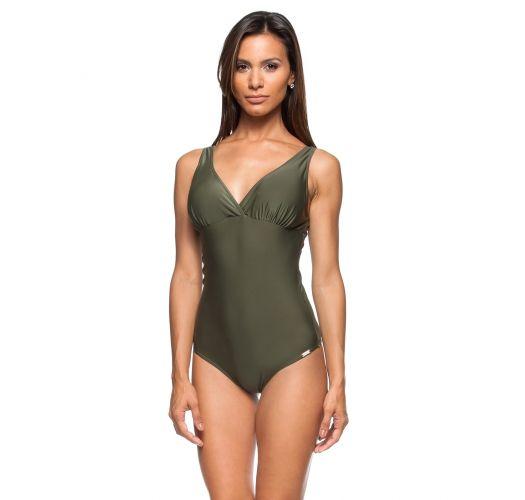 Costume Da Bagno Intero Verde Militare Con Imbottitura Morbida ...