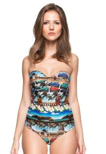 One-piece hard padded bandeau swimsuit - GUARUJA
