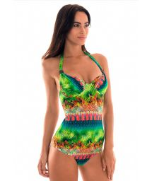Multicoloured one-piece swimsuit with underwiring - MAIO MINHA TERRA