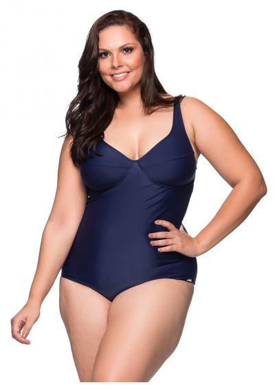 Navy blue underwired one-piece swimsuit - plus size - MAIO MIRAMAR PLUS