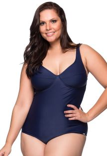 Navy blue underwired one-piece swimsuit - plus size - MAIO MIRAMAR PLUS