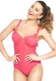 Dark pink underwired one-piece swimsuit - MAIO PEDRAS FRUTILLY