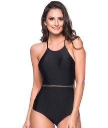 Black slimming one-piece swimsuit - MEDIDAS PRETO