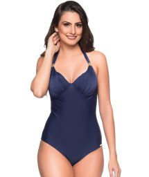 Navy underwired one-piece swimsuit - MEIA TACA MIRAMAR