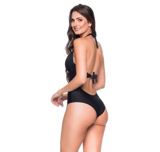 Black underwired one-piece swimsuit - MEIA TACA PRETO