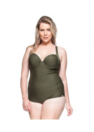 Hard padded one-piece swimsuit in khaki - MIRANTES NATURAIS