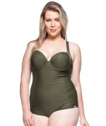 Hard padded one-piece swimsuit in khaki - MIRANTES NATURAIS