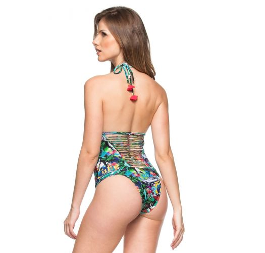 Strappy-back coloured Cuba one-piece swimsuit - SAINT-MARINE