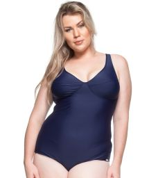 Underwired one-piece swimsuit in navy blue - TONS DE AZUL