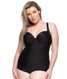 Plus-size hard padded one-piece in black - TRANCOSO