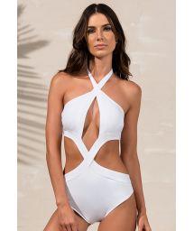 White monokini with original cuts - BODY CURVES