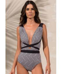 Geometric print multi-position bodysuit - BODY STRIPS ZIGGY