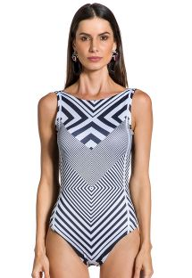 One-piece swimsuit in geometric print - BODY ZEBRA