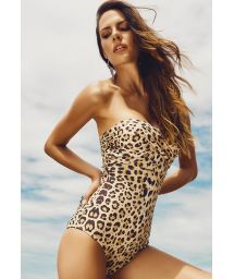 One-Piece animal print bustier swimsuit - GERIBA