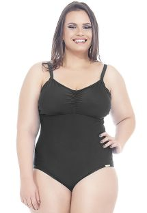 Solid black plus size one-piece swimsuit - IRACEMA
