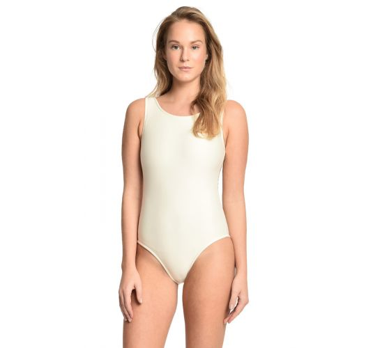 בגד ים חלק אחד צבע בז&#39 שטוף, גב עם רצועות מוצלבות - ASAS DE ARCANJO