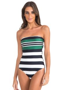 BASIC BANDEAU MAILLOT STRIPES