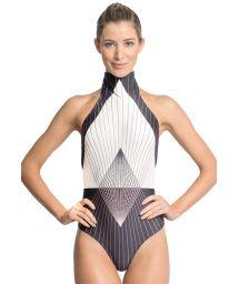 Runway geometric print one-piece swimsuit - COSMOS