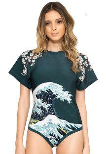 Badedragt fra modeshow med Hokusai-mønster - HOKUSAI