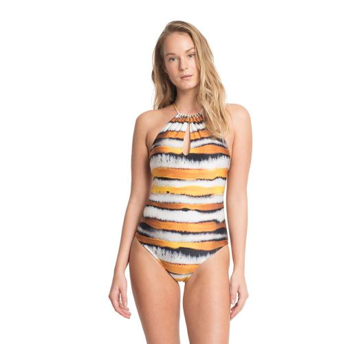 Luxe 2-style patterned one-piece swimsuit - MAIO IRIS