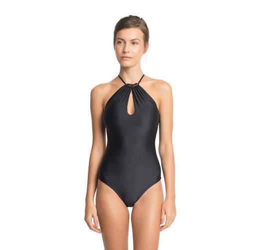 Luxe black 2-style one-piece swimsuit - MAIO PEROLA NEGRA