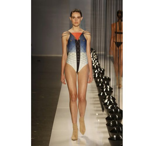 Runway graphic print one-piece swimsuit - MISTICO