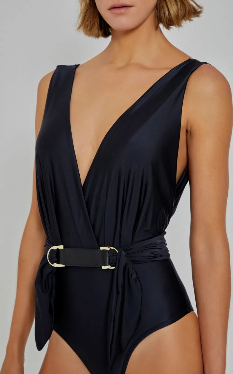 RUCHED CACHECOEUR BLACK
