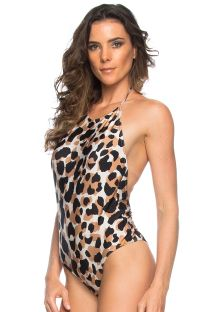 Animal pattern one-piece swimsuit - AMERICA DO NORTE