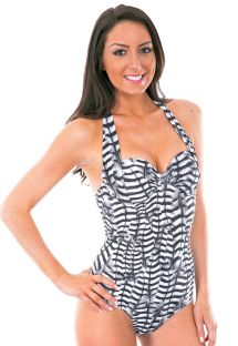 Two tone 1 piece underwired swimsuit - MAIO FALCO