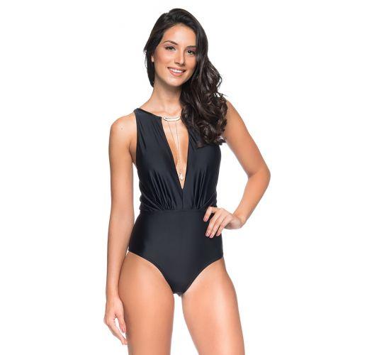 Ausgeschnittener Badeanzug mit Halskette - MAIO GARGANTILHA PRETO