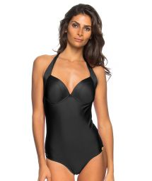 Black one-piece swimsuit with cups and underwiring - MAIO MEIA TACA