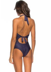 Midnight blue one-piece swimsuit with underwired cups - MAIO OCEANO
