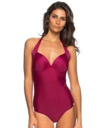 Deep pink one-piece swimsuit with underwired cups - MAIO SEA FAN