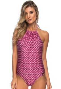 Pink one-piece swimsuit with open back - MAIO SEREIA