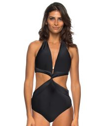 Black twisted effect Brazilian trikini - MAIO SICILIA PRETO